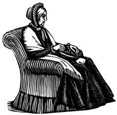 wood-engraving print: Grandmama for The Runaway